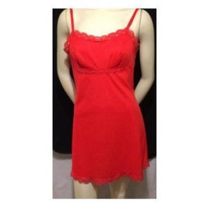 Lorraine Chemise Size 36 Red Vintage